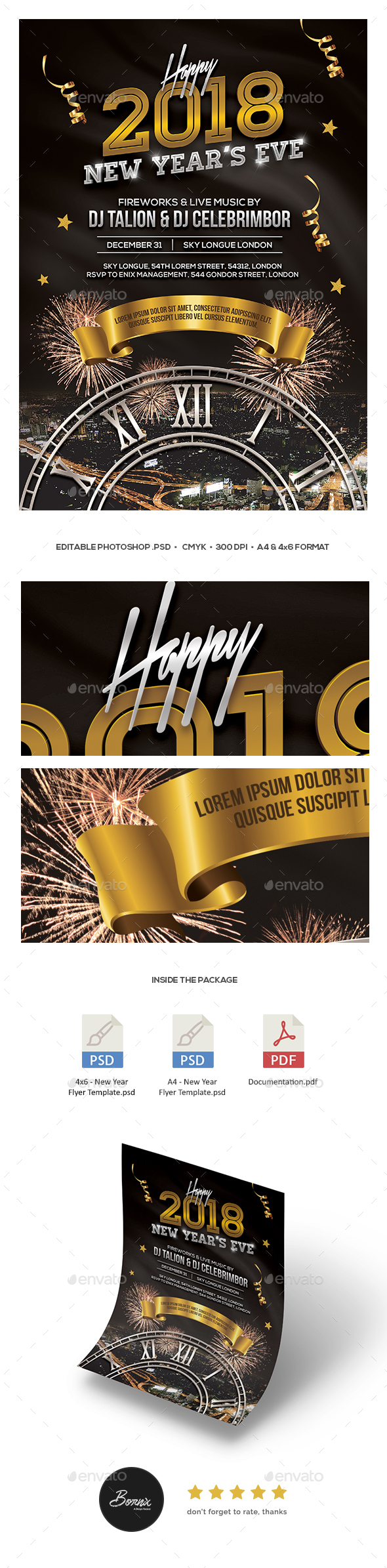 GraphicRiver New Year Flyer 21158312