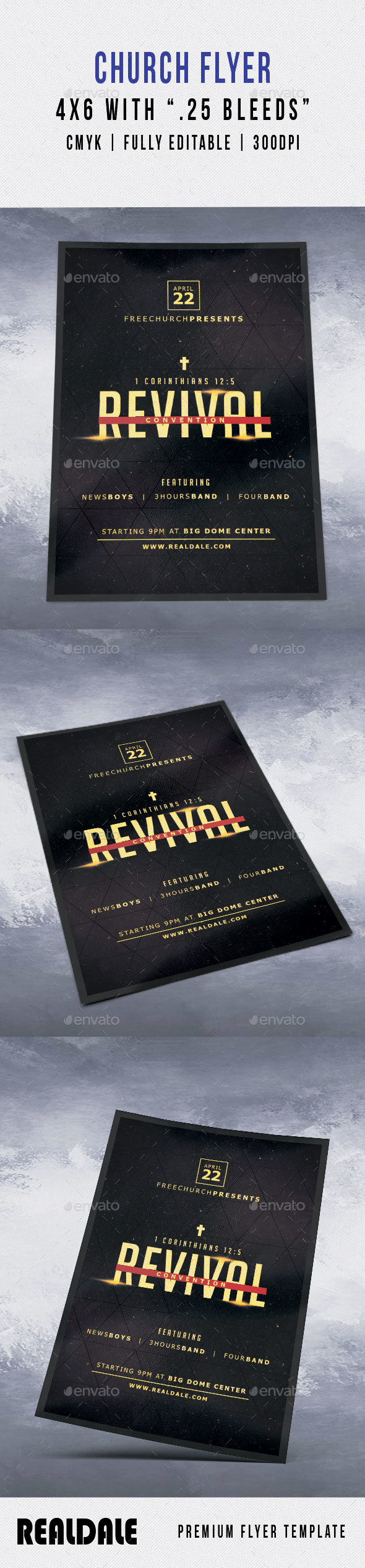 Revival Church Flyer - Events Flyers