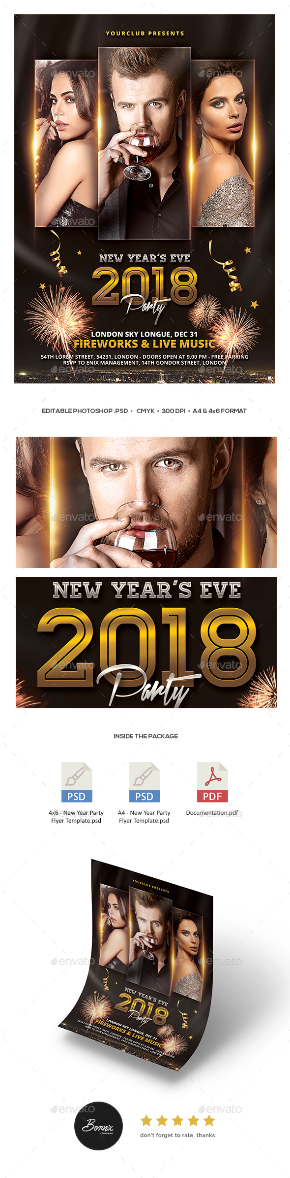 GraphicRiver New Year Party Flyer 21158339