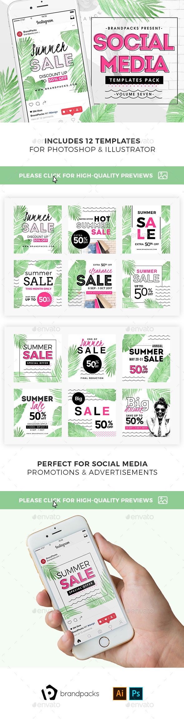 GraphicRiver Summer Sale Social Media Templates 21158481