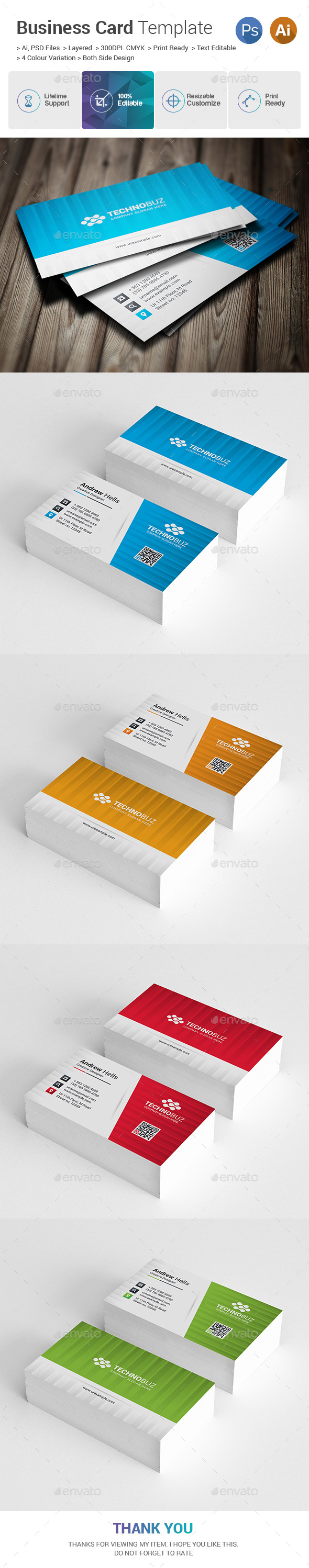 GraphicRiver Corporate Business Card 21158489