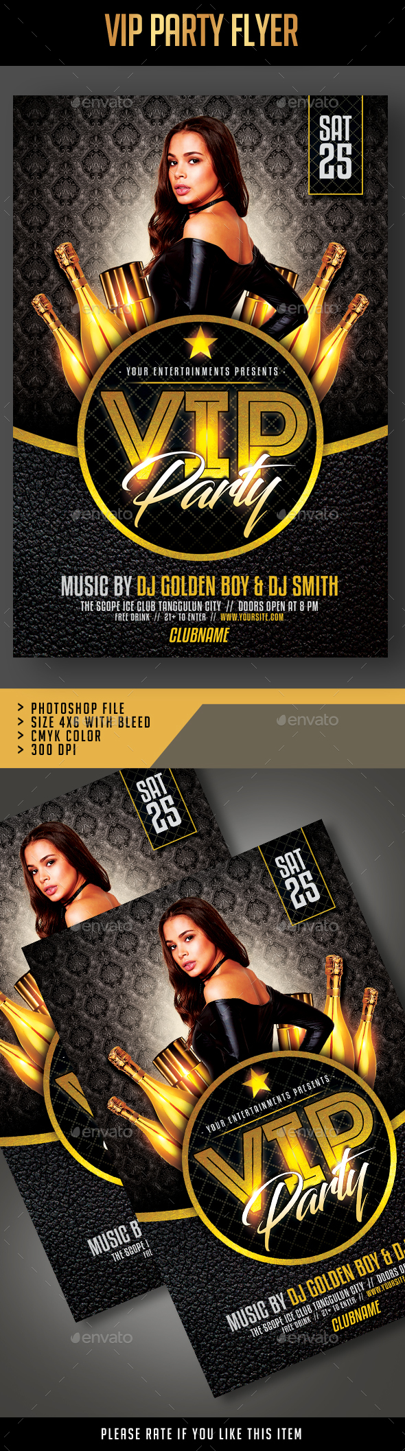 GraphicRiver Vip Party Flyer 21158542