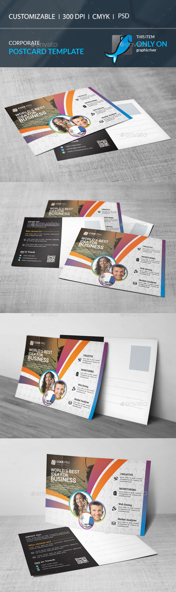 GraphicRiver Postcard 21158567