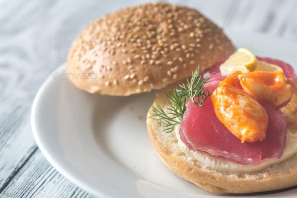 Tuna sandwich - Stock Photo - Images