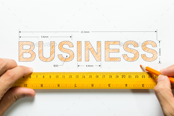 Measure business growth or success - Stock Photo - Images