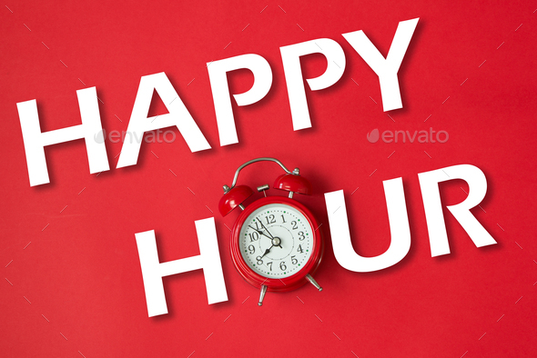 Happy hour with classic clock - Stock Photo - Images
