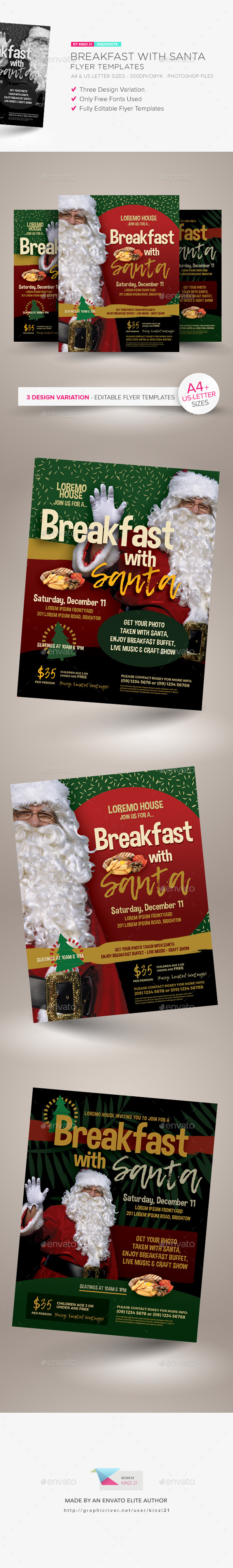 GraphicRiver Breakfast With Santa Flyer Templates 21151818