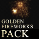 Golden Fireworks Pack - VideoHive Item for Sale