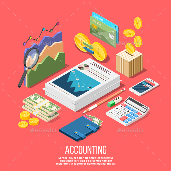 GraphicRiver Accounting Elements Conceptual Background 21159198