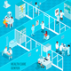 Health Care Center Isometric Illustration