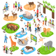 Zoo Isometric Big Set