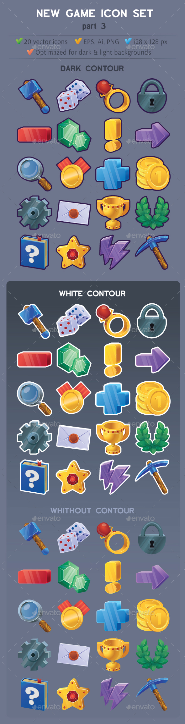 GraphicRiver Game Icon Set Part 3 21159388