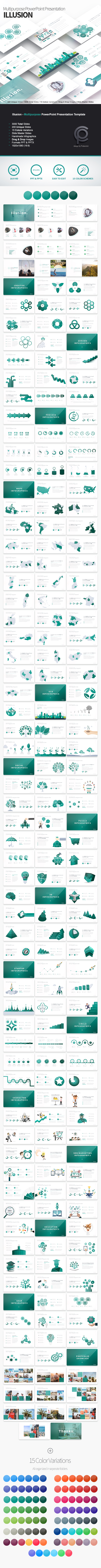 GraphicRiver Illusion Multipurpose PowerPoint Presentation 21159496