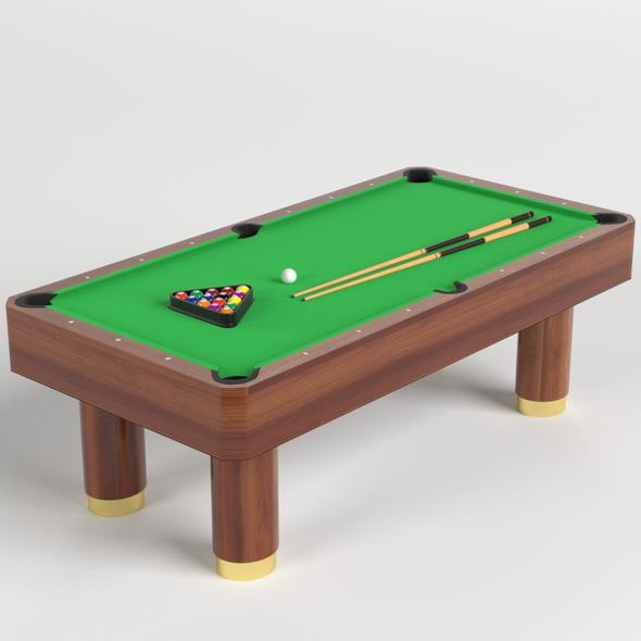 3DOcean Pool Table set 21159627