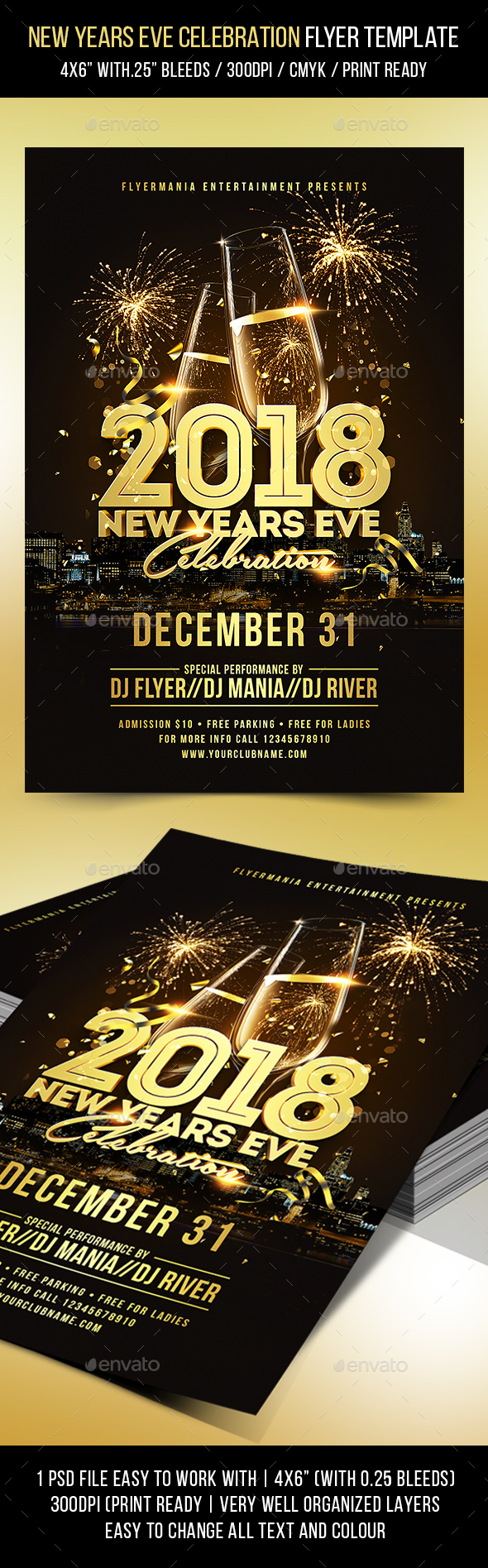 GraphicRiver New Years Eve Celebration Flyer Template 21159700
