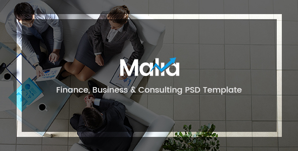 Malia – Finance, Business & Consulting PSD Template