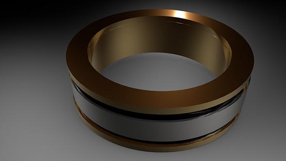 3DOcean Gold Ring 21159792