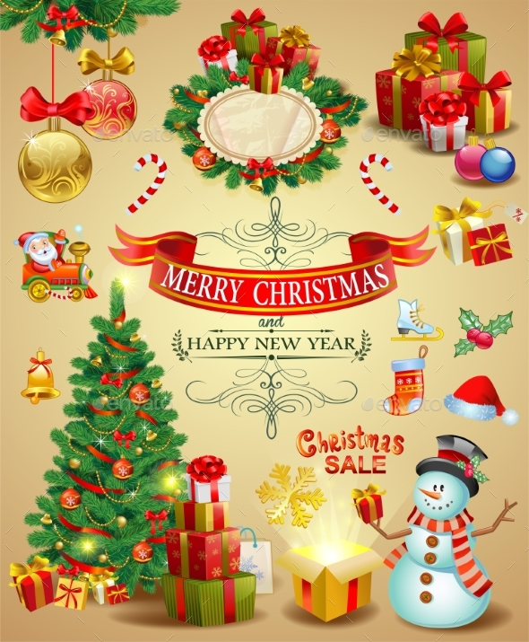 GraphicRiver Collection of Christmas Ornaments 21159797