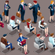 Isometric People Businessmen 3D Icon Set Vector Illustration - GraphicRiver Item for Sale