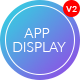 App Display - One Page Parallax App Landing PSD Template