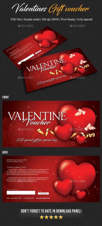 GraphicRiver Valentines Gift Voucher V04 21159993