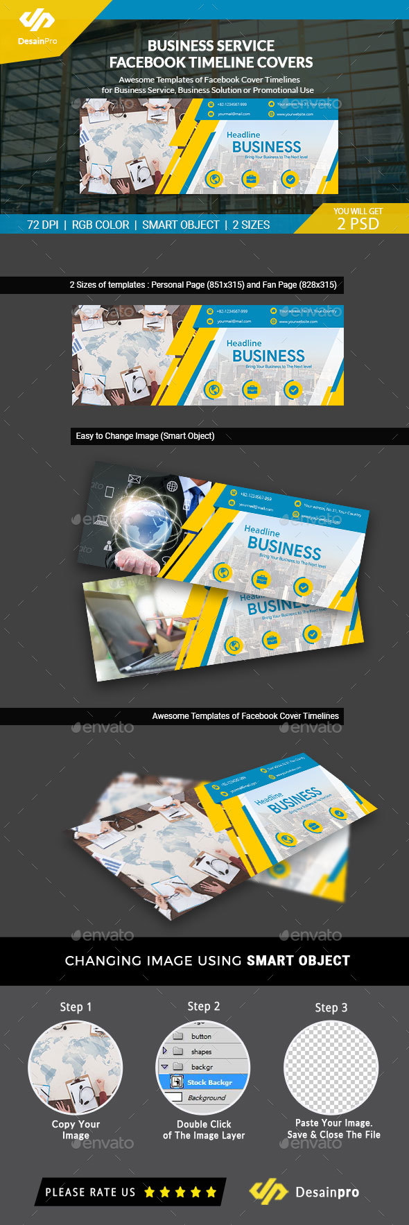 GraphicRiver Business Solutions FB Cover Timeline AR 21160025