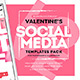 Valentine's Day Social Media Templates - GraphicRiver Item for Sale