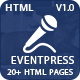 Event Press - Conference & Event HTML5 Template