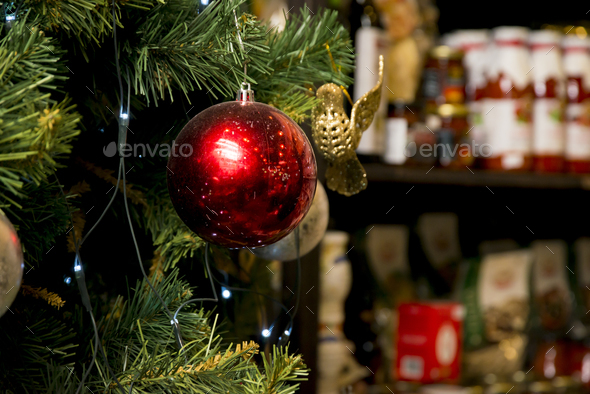 christmas tree close up background - Stock Photo - Images
