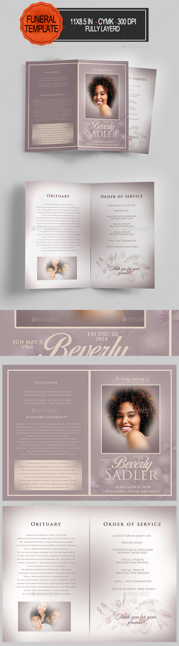 GraphicRiver Funeral Program Template 21160130