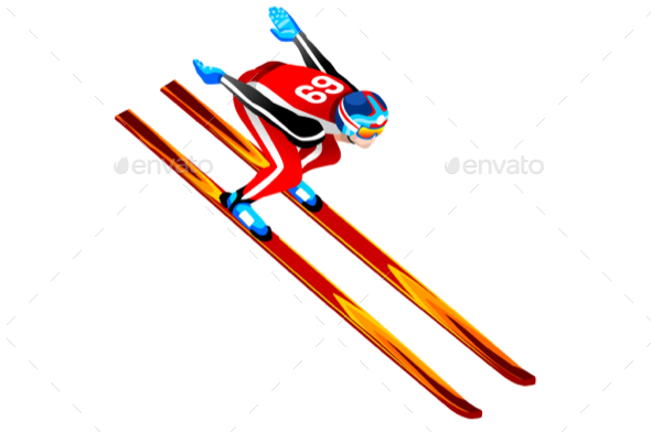 GraphicRiver Ski Jump Long Hill Illustration 21160139
