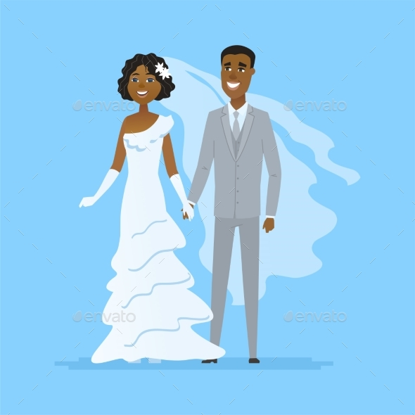 GraphicRiver Wedding Cartoon Characters Isolated 21160373