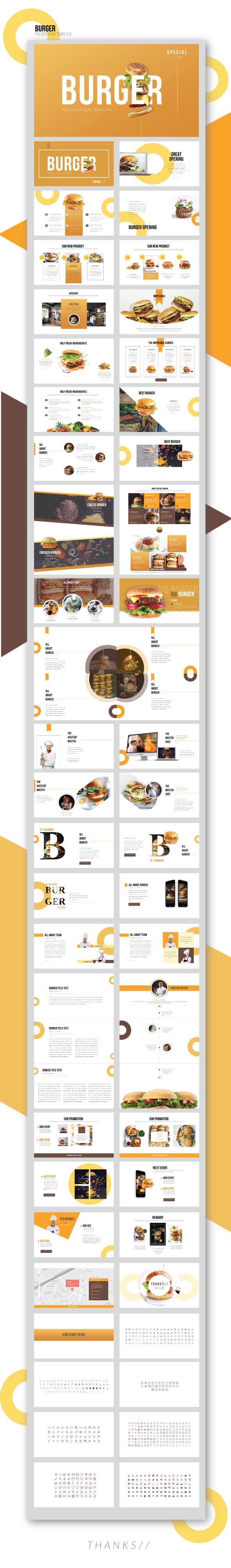 GraphicRiver Burger Creative Keynote Presentation Templates 21160385