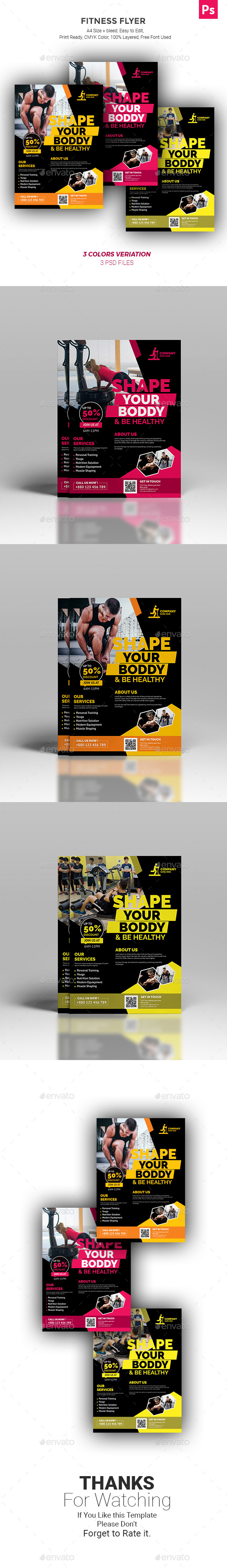 GraphicRiver Fitness Zym Flyer 21160418