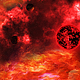 Abstract Red Space Nebula and Big Red Star with Planets - VideoHive Item for Sale