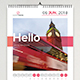 Calendar 2018 Hello - GraphicRiver Item for Sale