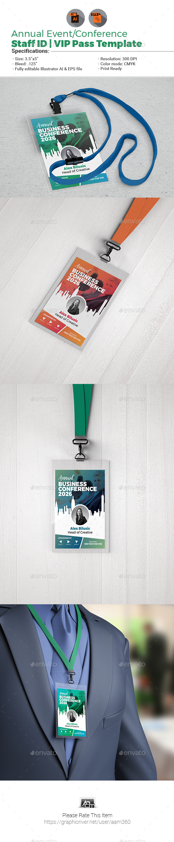 GraphicRiver Event Conference VIP Pass ID Template 21160802