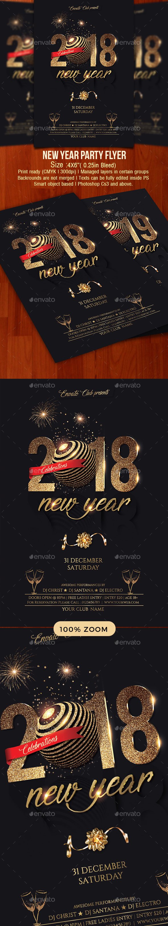 GraphicRiver New Year Party Flyer 21160810
