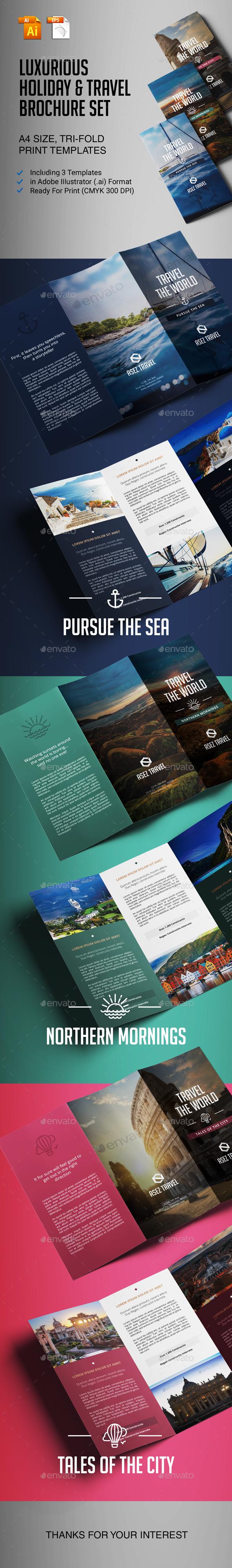 GraphicRiver Travel Brochure Set 21151707