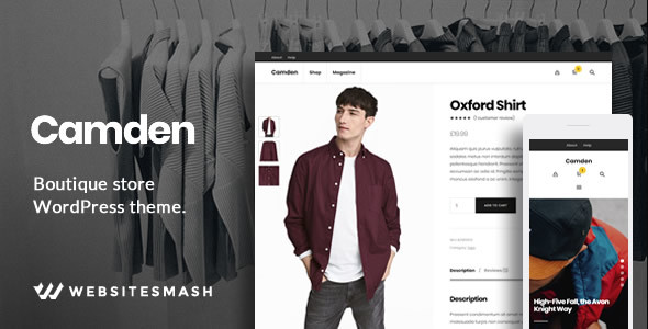 Camden - Boutique Store WordPress Theme Free Download | Nulled