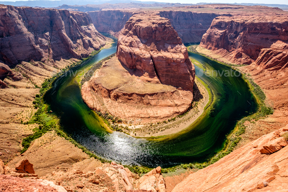 Horseshoe Bend on Colorado River - Stock Photo - Images