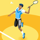 Background Badminton Vector Boy Illustration - GraphicRiver Item for Sale