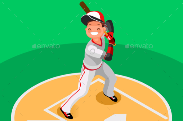 GraphicRiver Baseball Vector Boy Mascot Poster 21161064
