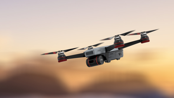 VideoHive Hovering Drone 3 Motions With Loop 21161129