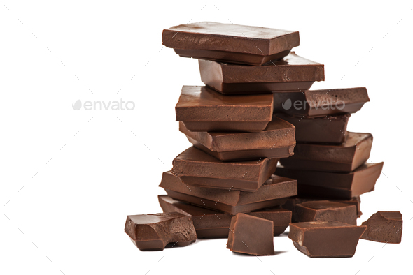 Stacked chocolate bars - Stock Photo - Images