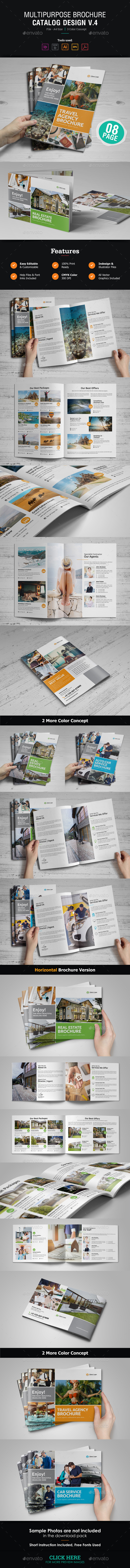 GraphicRiver Multipurpose Brochure Catalog Design v4 21161295