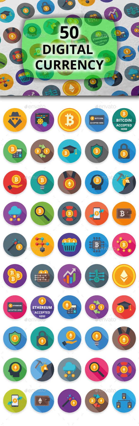 GraphicRiver Digital Currency Icons 21161357