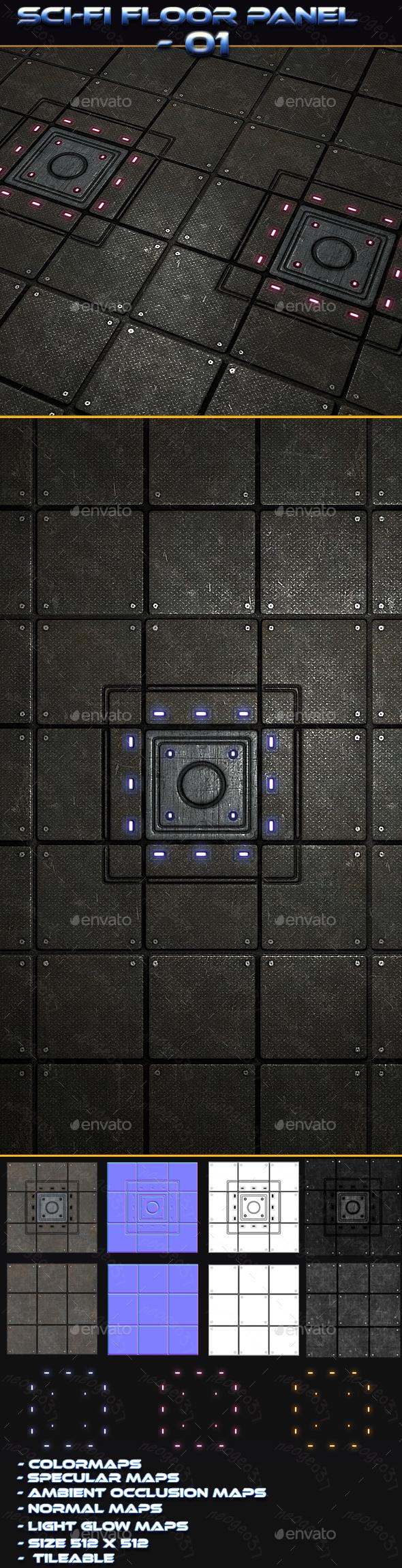 3DOcean Sci-fi Floor Panel 01 21161423