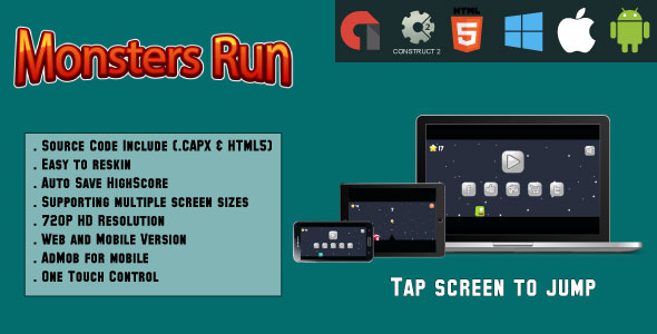 Download Source code              Monsters Run Adventure - (capx & HTML5)            nulled nulled version
