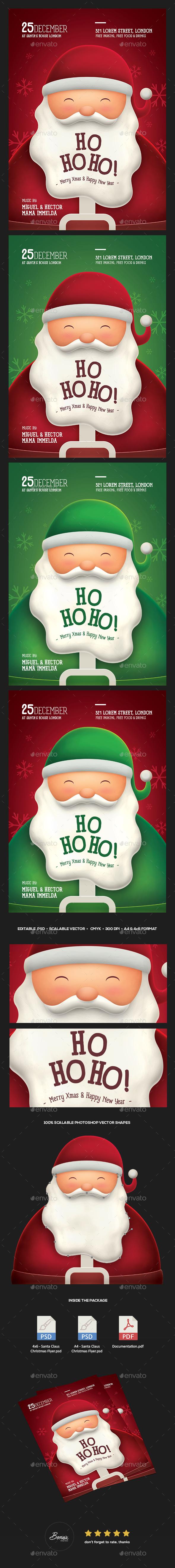 Santa Claus Christmas Flyer - Holidays Events